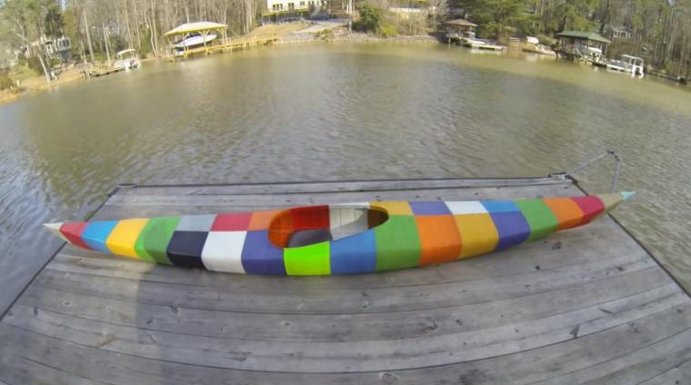 kayak hecho en 3D, la industria del deporte le apuesta a la impresión 3d